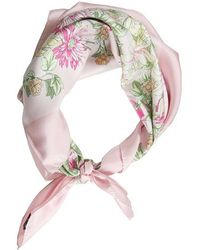 Brooks Brothers Floral Scarf Pink - Lyst