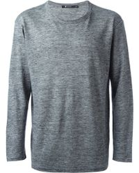 T By Alexander Wang Gray Longsleeve T-shirt - Lyst