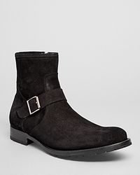 To Boot - Jax Suede Buckle Boots - Lyst