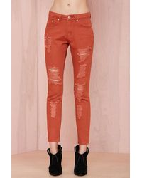 Nasty Gal Cut To The Chase Jeans - Lyst