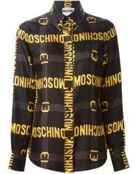 Moschino Logo Plaque Print Shirt - Lyst