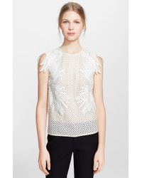 Erdem Embroidered Lace Shell - Lyst