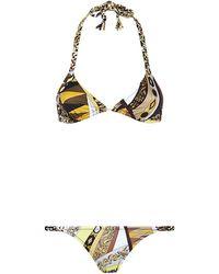 Emilio Pucci Printed Plait Bikini - Lyst