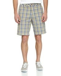 Tailor Vintage Threetone Canvas Twill Checked Shorts - Lyst