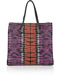 Alexander Wang Prisma Skeletal Large Tote in Tie Dye Bubba and Flame with Matte Black - Lyst