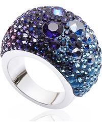 Swarovski - Blue & Purple Crystal Ring Size 6 - Lyst