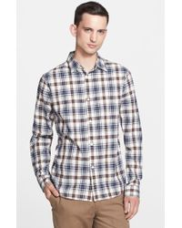 A.P.C. Extra Trim Fit Plaid Woven Shirt - Lyst
