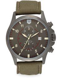Andrew Marc - Gunmetal Ip Stainless Steel & Nylon Strap Chronograph Watch - Lyst