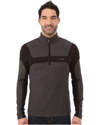 Calvin Klein   Long Sleeve Q-zip Color Blocked Interlock & Honey Comb Mock   Lyst