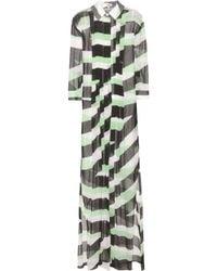 Kenzo Printed Silk Dress - Lyst