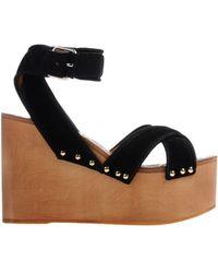 Celine Black Sandals - Lyst
