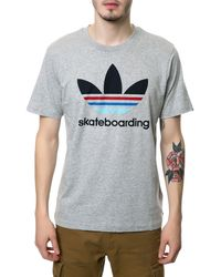 Adidas The Skate Logo Fill Tee - Lyst