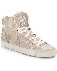 Ash Sonic Glitter High-top Sneakers - Lyst
