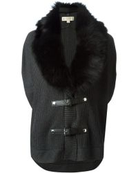 MICHAEL Michael Kors Trimmed Collar Knitted Vest - Lyst