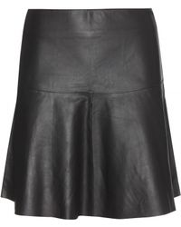 By Malene Birger Ponillas Leather Skirt - Lyst