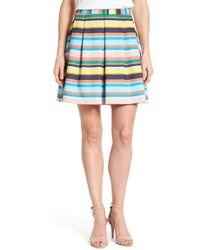 Cece by Cynthia Steffe - Confetti Stripe Pleat Scuba Skirt - Lyst