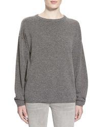 Earnest Sewn - 'dylan' Wool & Cashmere Boyfriend Sweater - Lyst