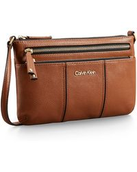 Calvin Klein White Label Caitlin Leather Crossbody - Lyst