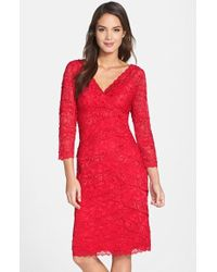 Marina Tiered Lace Dress - Lyst