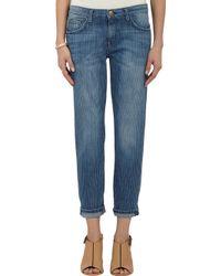 Current/Elliott Loved Stripe The Fling Jeans - Lyst
