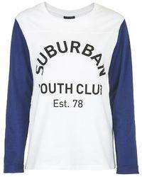 Topshop Suburban Youth Club Raglan Top - Lyst
