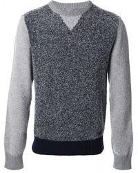 Woolrich Blue Boucle Knit Sweater - Lyst