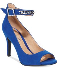 Report Royale Chain Ankle Strap Pumps - Lyst