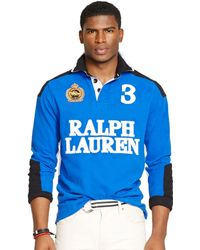 Polo Ralph Lauren Custom Fit Snow Polo Rugby Shirt - Lyst