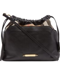 Burberry Canvascheck Leather Bag 30 - Lyst