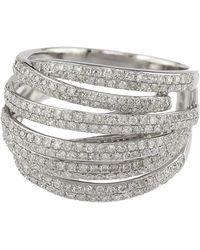 Effy - Diamond And 14k White Gold Ring, 1.05 Tcw - Lyst