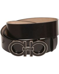 Ferragamo 35Mm Brushed Leather Belt - Lyst