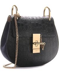 Chloé | Drew Small Embossed-Leather Bag | Lyst