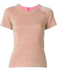 Sonia By Sonia Rykiel Sparkle Shortsleeved Top - Lyst