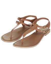 Topshop Harbour Toe Post Sandals - Lyst