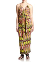 T-bags Jersey Multi-Print Maxi Dress - Lyst
