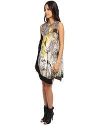 Just Cavalli Asymmetrical Hem Dress - Lyst