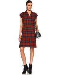 R13 Kilt Wool Dress - Lyst