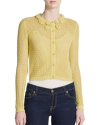 RED Valentino Floral Mesh Sweater - Lyst