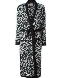 Laneus - Star Print Belted Cardi-coat - Lyst