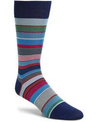 Paul Smith Stripe Socks blue - Lyst