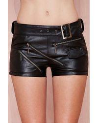 Nasty Gal Black Nightwalker Shorts - Lyst