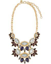 Lee Angel - Ornate Layered Crystal Bib Necklace - Lyst