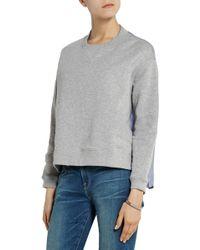 Richard Nicoll - Panelled Cotton-terry Sweatshirt - Lyst
