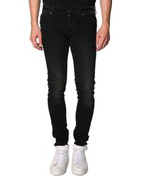 G-Star RAW Super Slim 3301 Black Washed-Out Jeans - Lyst