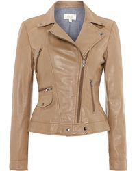 Linea Weekend Leather Jacket - Lyst