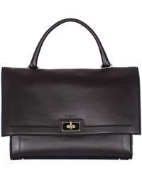 Givenchy   Black Hammered Leather Medium Shark Bag   Lyst