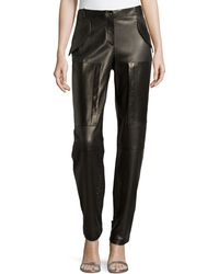 Michael Kors Perforated Leather Track Pants - Lyst