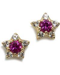 Elizabeth And James Bass Stud Earrings Ruby - Lyst