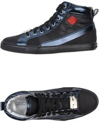 DSquared2 High Top Trainers - Lyst