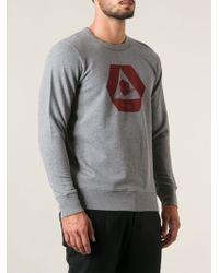 Paul Smith Gray Printed Sweatshirt - Lyst